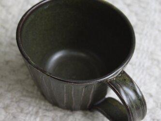 蕎麦釉シノギのコーヒーカップの画像