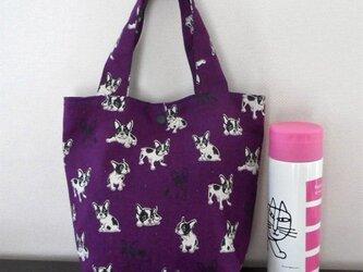 フレンチブルちゃんのトートバッグ(紫)の画像