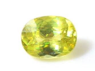 スフェーン オーバル カット 大粒 ルース 上質 天然石 S-E034CI2の画像