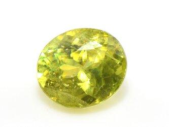 スフェーン オーバル カット 大粒 ルース 上質 天然石 S-E035CI2の画像