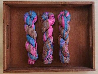 インダスからの贈り物(オリジナルの段染め糸)⑤3本セットの画像