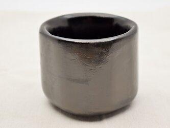 手彫茶椀 黒漆灰色漆の画像