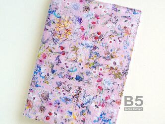 リバティ B5大学ノートカバー ワイルドフラワーズ ピンクの画像