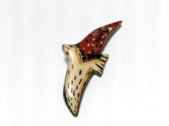漆ブローチ「BIRD」の画像