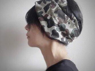 ターバンなヘアバンド カモフラージュ 送料無料の画像