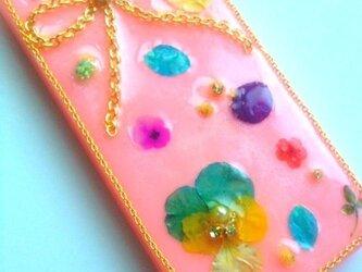 カラフルな花とリボンのIPHONE5/5sケースの画像
