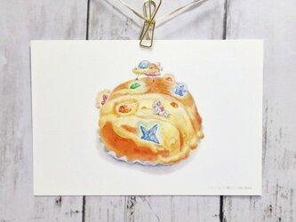 ポストカード 「クリームパン星にて」2枚セットの画像