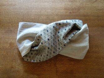 \SALE/-- hairband -- offwhite、hemp×purple--の画像