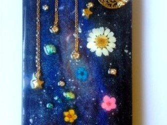 【再販】宇宙と花のIPHONE5/5sケースの画像