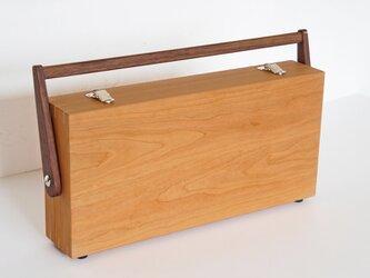 sketch道具箱(画箱・ツールボックス・小物入れ・裁縫箱)チェリー *受注製作の画像