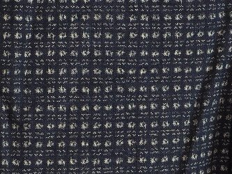 kT0018 書生絣文様木綿着分☆古布・古裂 /筒描き/型染め/藍染/の画像