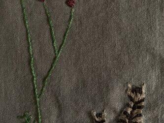 綿麻 ワイドパンツ キジトラ猫とワレモコウの画像