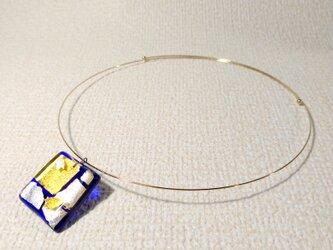 ガラス細工のネックレス ー 夜桜 ーの画像