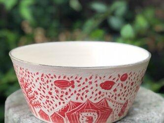 Kakiotoshi  large bowl - サーカスがやって来たの画像