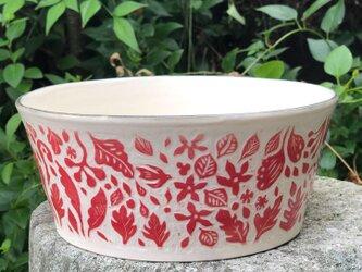 Kakiotoshi  large bowl - tropical rain forestの画像