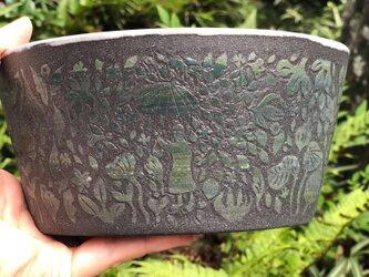 Kakiotoshi large bowl -深い森を歩くの画像
