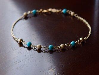 星のささやき「古の青」~ターコイズのブレスレットの画像