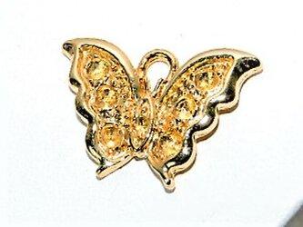 【アクセサリートップ】蝶の枠Sサイズ(丸環付き)2個入りの画像
