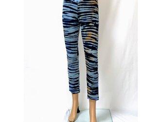 【1枚限定:iichi価格】ワンサイズで7~13号対応!穿いている感じがしない美脚スキニーストレートパンツ(ブルーホライズン)の画像