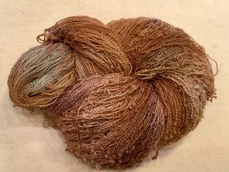 【手染め糸です✨】  ウール 化繊 アルパカ混 ウェーブヤーン 195gの画像