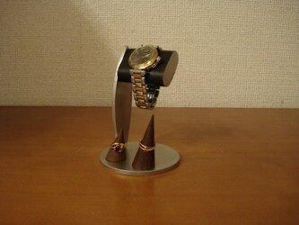 腕時計 飾る ちょっと背が高いブラックコルク腕時計スタンド 指輪スタンド の画像