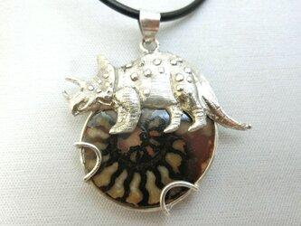 アンモナイトのトリケラトプスペンダントの画像