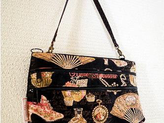 ゴブラン織り-3ポケットアクセサリーバッグの画像