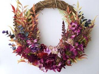 Bordeaux autumn wreathの画像