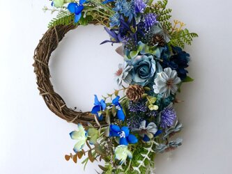 Autumn wreath Delphiniumの画像