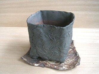 植木鉢 リーフ黒の画像