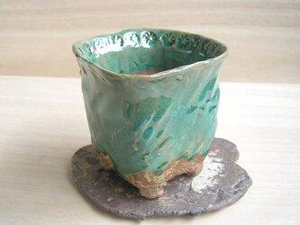 植木鉢 グリーンの画像