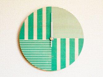 ▶ 掛け時計 ▷ 木製 ▶ B02_Greenの画像