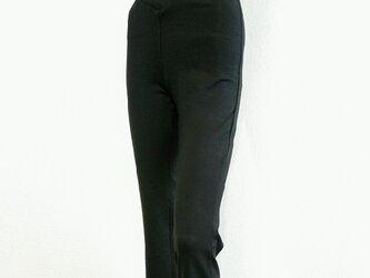 《再販》最高の穿き心地:1サイズでS~Lサイズ対応のフリーサイズストレートロングパンツ:股下70㎝の画像