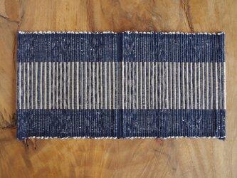 裂き織りティーマット ライン入り② 木綿の画像