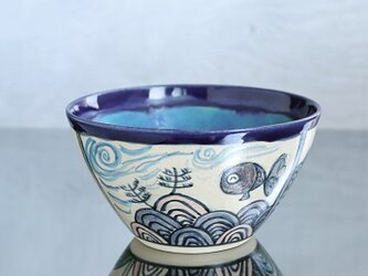 染付風金魚鉢の画像