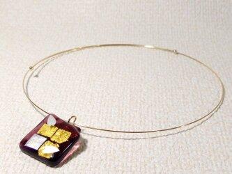 ガラス細工のネックレス ー 暁 ーの画像