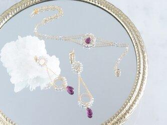 【14KGF】Rhodorite Garnet Braceletの画像