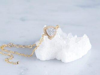 【14KGF】Silver Druzy CZ PAVE,Figaro Chain Braceletの画像