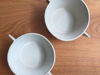 白いスープカップ(中鉢)の画像