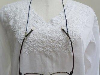 ラピスラズリの眼鏡ストラップ(送料無料)の画像