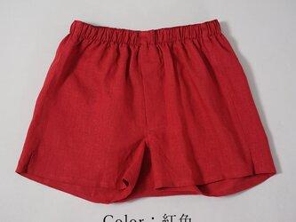 【wafu】薄地 雅亜麻 リネン トランクス 速乾 防臭 インナー 下着 パンツ メンズ / 紅色 b014a-bne1の画像