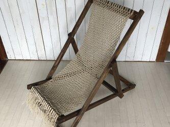 macrame deck chair ② マクラメデッキチェアの画像
