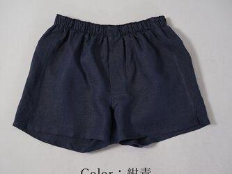 【wafu】薄地 雅亜麻 リネン トランクス 速乾 防臭 インナー 下着 パンツ メンズ / 紺青 b014a-kju1の画像