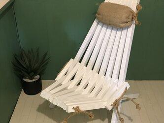 stick chair ① 麻枕付きスティックチェアの画像