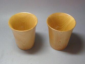 栃斑杢材 ビアジョッキガラスコート仕上げ   1点 の画像