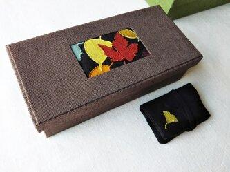 リネンソーイングボックス・ニードルケース付き『秋色』の画像