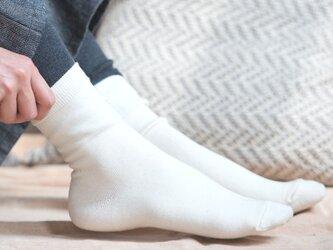 シルクコットンあたためソックス【Organic Cotton&Silk】の画像