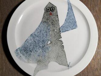 5寸皿(ヒトに近い鳥)の画像