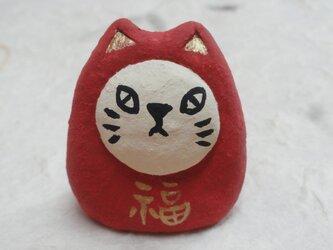 ミニ福猫だるま(B)の画像