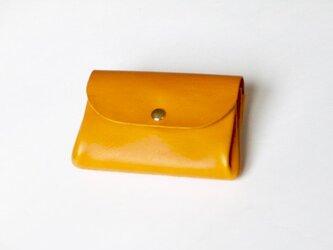 ちょっとセレブな三層コインケース(ナポリ)黄色〜からし色の画像